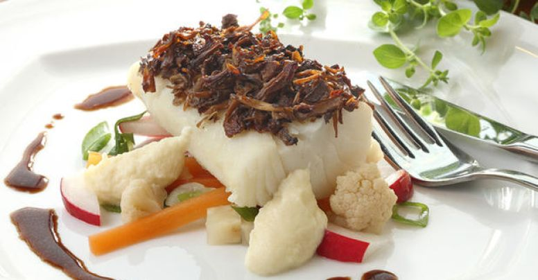 Clipfish with parsnip purée